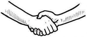 Přátelské podání rukou