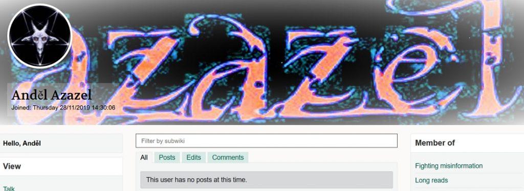 WT Social - Profil Anděl Azazel