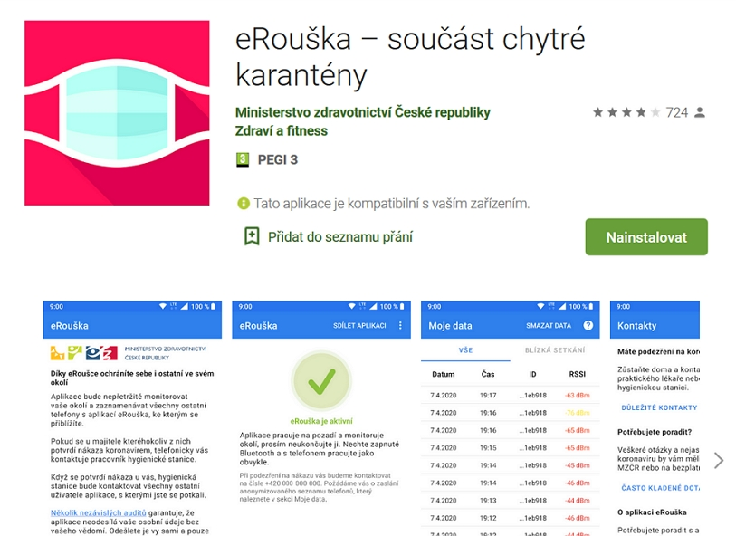 eRouška na Google Play