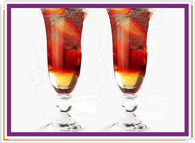 Jahody v medovém šampaňském