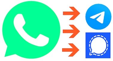 WhatsApp - Telegram a Signal