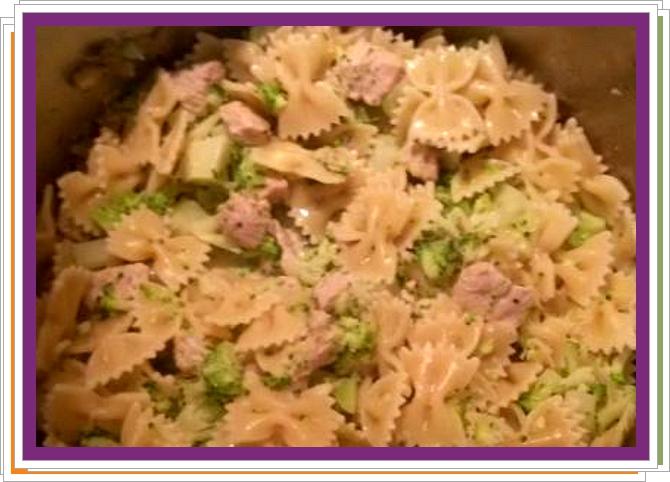 Těstoviny s brokolicí a masem