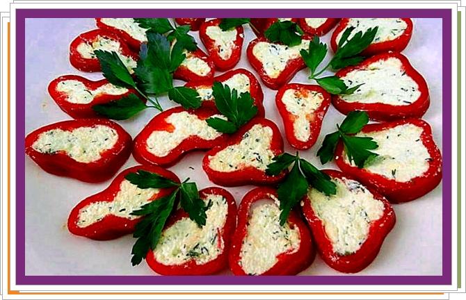Papriky s chutnou náplní