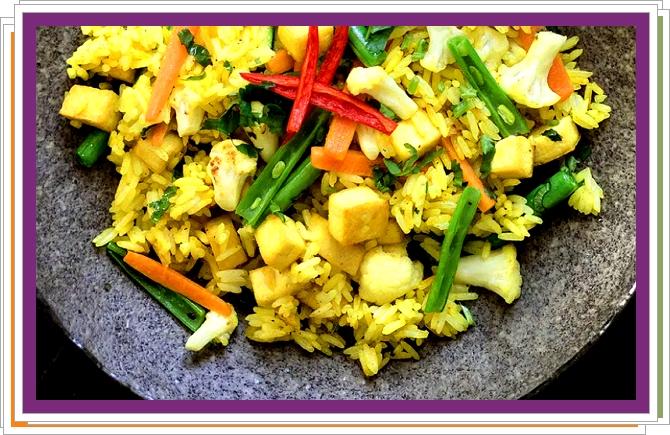 Smažená rýže s tofu