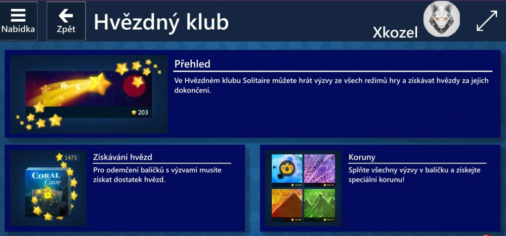 Hvězdný klub - Microsoft Solitaire Collection