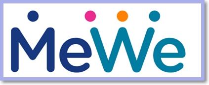 MeWe logo - Sociální síť