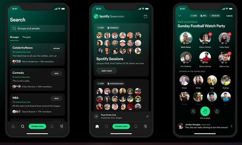 Spotify Greenroom - audio chat