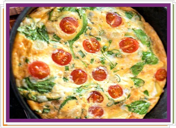 Vaječná omeleta se sýrem a zeleninou