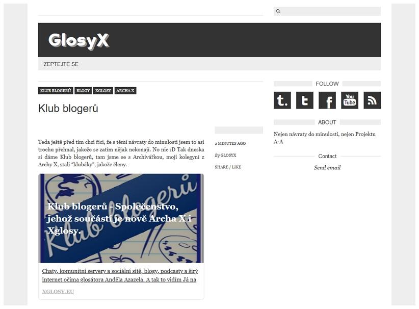 Blog GlosyX na Tumblr