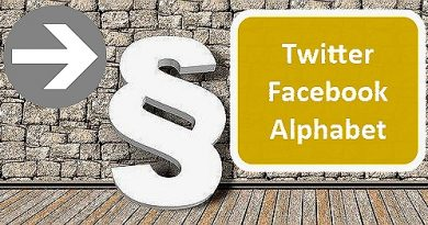 žaloby na Twitter, Facebook a Alphabet
