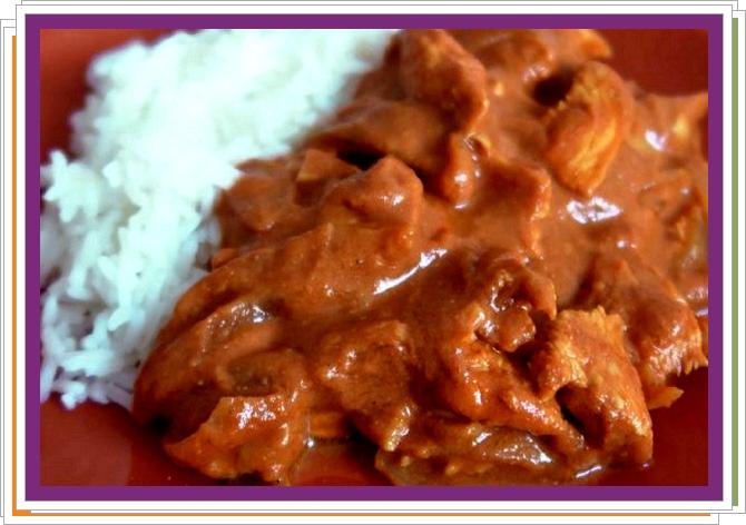 Indické kuřecí maso v rajčatové omáčce